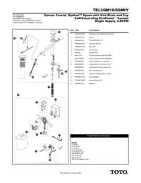 Parts Manual: TEL3GM10, TEL3GM60