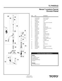 Parts Manual: TL794DDLQ