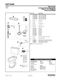 Parts Manual: CST754EF