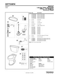 Parts Manual: CST754EFN