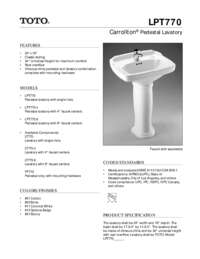 Spec Sheet: LPT770