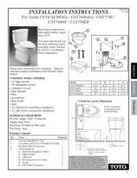 Installation Manual: CST764, CST744, CST794, CST474CEF, CST474CEFG