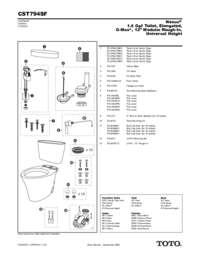 Parts Manual: CST794SF
