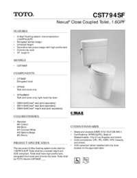 Spec Sheet: CST794SF