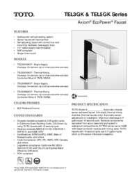 Spec Sheet: TEL3GK, TEL5GK