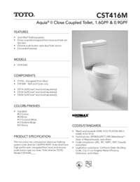 Spec Sheet: CST416M