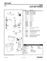 Parts Manual: CST744SL