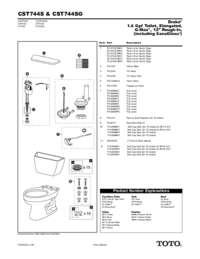 Parts Manual: CST744S, CST744SG
