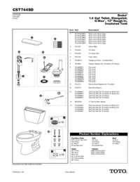 Parts Manual: CST744SD
