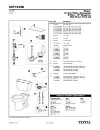 Parts Manual: CST744SB