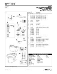 Parts Manual: CST744SDB
