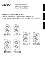 Installation Manual: TS794C, TS794D, TS930C, TS930D, TSP60C1, TS960D1