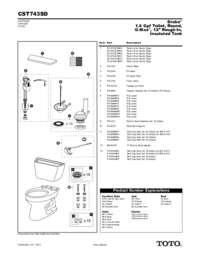 Parts Manual: CST743SD