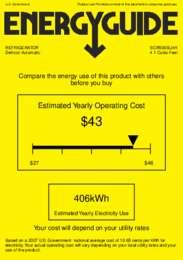 SCR500BLHH Energy Guide