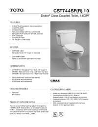 Spec Sheet: CST744SF.10, CST744SFR.10