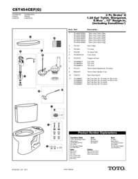 Parts Manual: CST454CEF, CST454CEFG