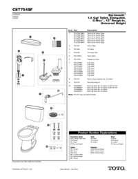 Parts Manual: CST754SF