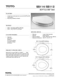 Spec Sheet: SS113, SS114