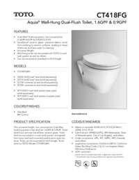 Spec Sheet: CT418FG