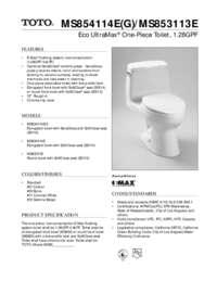 Spec Sheet: MS854114E, MS854114EG, MS853113E