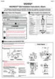 Installation Manual: MS980CMG (Installation - Bowl)