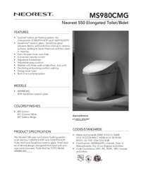 Spec Sheet: MS980CMG