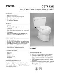 Spec Sheet: CST743E
