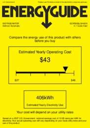 SCR500BLSHADA Energy Guide