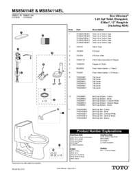 Parts Manual: MS854114E, MS854114EL