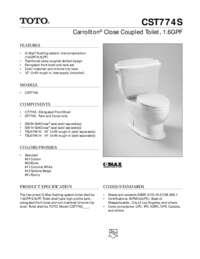Spec Sheet: CST774S