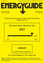 SCR500BLBISH Energy Guide