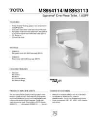 Spec Sheet: MS863113, MS864114