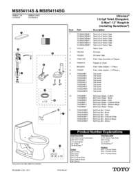 Parts Manual: MS854114S, MS854114SG