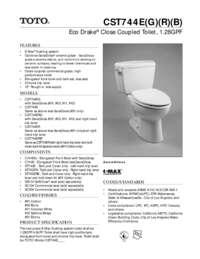 Spec Sheet: CST744E, CST744EG