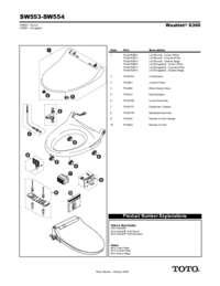 Parts Manual: SW553, SW554