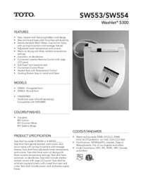 Spec Sheet: SW553, SW554