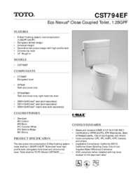 Spec Sheet: CST794EF