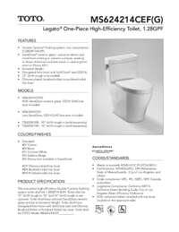 Spec Sheet: MS624214CEF, MS624214CEFG