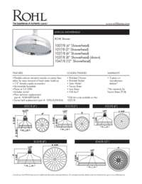 "8"" Bordano Anti-Cal Showerhead"