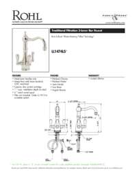 Triflow(R) 3-Lever Bar Faucet