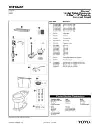 Parts Manual: CST784SF