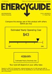 FF511LXBI7SSTB Energy Guide