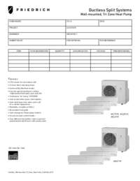 2012 Ductless Wall-Mounted Tri Zone Heat Pump Submittal