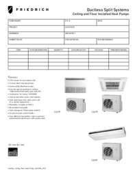 2012 Ductless Wall-Mounted Floor Ceiling Submittal