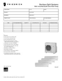 2012 Ductless Wall-Mounted Quad Zone Heat Pump Submittal