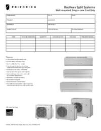 2012 Ductless Wall-Mounted Single Zone Cool Only Submittal