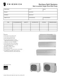 2012 Ductless Wall-Mounted Single Zone Heat Pump Submittal