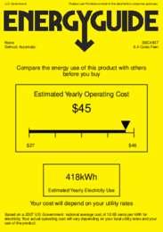 SBC4907 Energy Guide