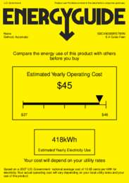 SBC490BIBRSTWIN Energy Guide