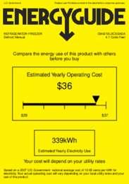 CM421BLXCSSADA Energy Guide